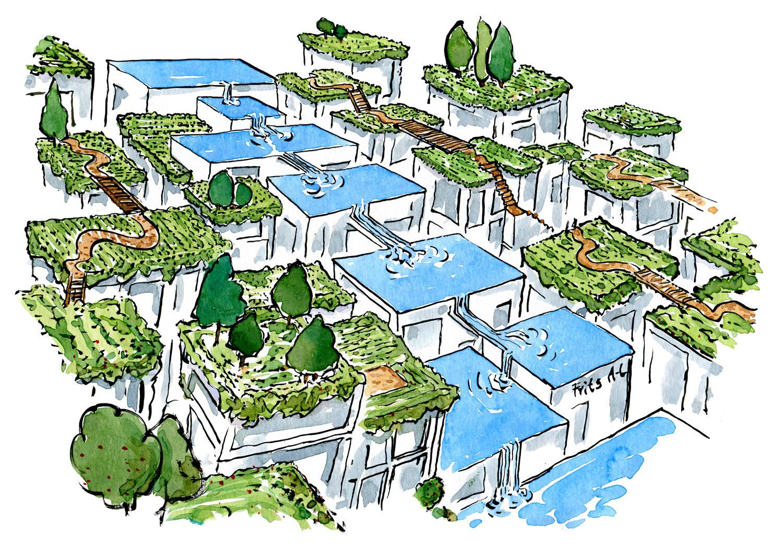 En ny blå-grøn arkitekturform er langt bedre for biodiversitet og klimasikring end de industrielle, modernistiske og naturfjendske typer der har domineret de sidste 50 år.