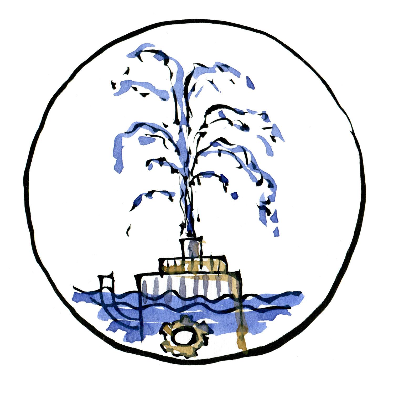 Frøer trives ikke i bassiner med springvand, så lav istedet små naturlige bække med rolige steder, hvis der skal være rindende vand