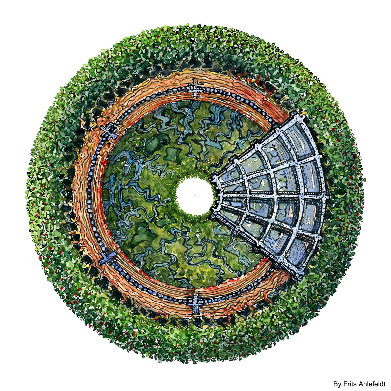Ekstrem grønt hus, design Frits Ahlefeldt