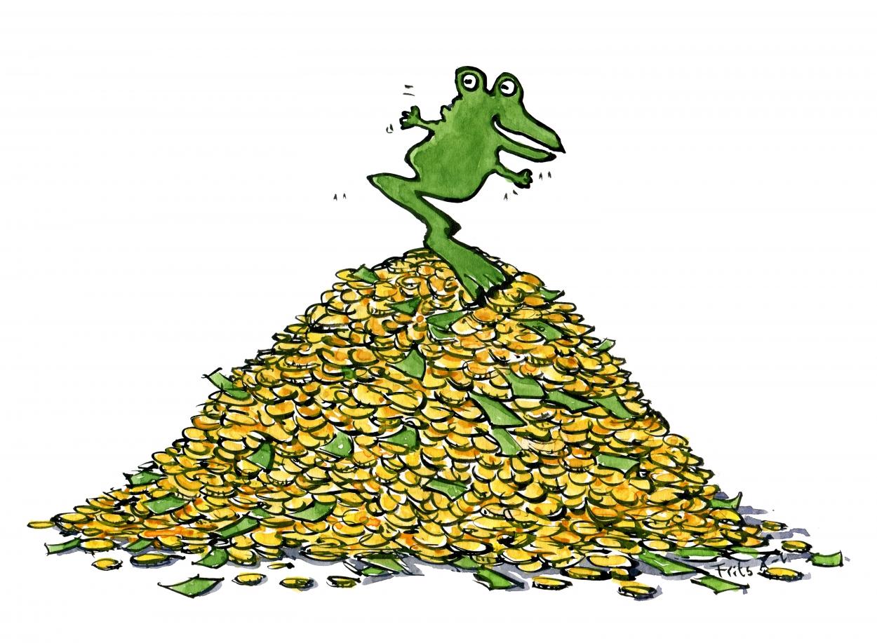 Tegning af Jin Chan - den kinesiske penge frø